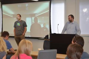 From left: Maciej Żenczykowski and Krzysztof Oledzki from Google