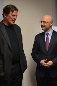 From left: Mark Iwanowski and Deputy Minister Michał Kurtyka