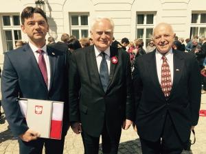 From left: Stan Lewandowski, Esq., Director and Secretary of USPTC; Olgierd Dziekoński, Secretary of State of Poland; Dr. Janusz W. Romanski, Chairman, Polonia Technica, Inc.