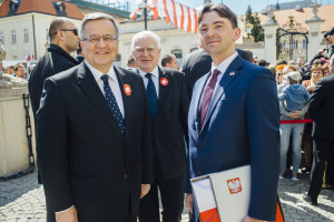 From left: Bronisław Komorowski, the President of the Republic of Poland; Olgierd Dziekoński, Secretary of State of Poland; Stan Lewandowski, Esq., Director and Secretary of USPTC