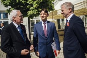 From left: Olgierd Dziekoński, Secretary of State of Poland; Stan Lewandowski, Esq., Director and Secretary of USPTC