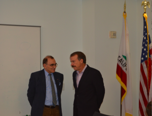 Prof. Piotr Moncarz and Jonathan Thomas, Ph.D., J.D., Chair, Governing Board of CIRM
